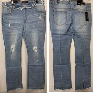 L&B Split hem bootcut jeans 22 light wash